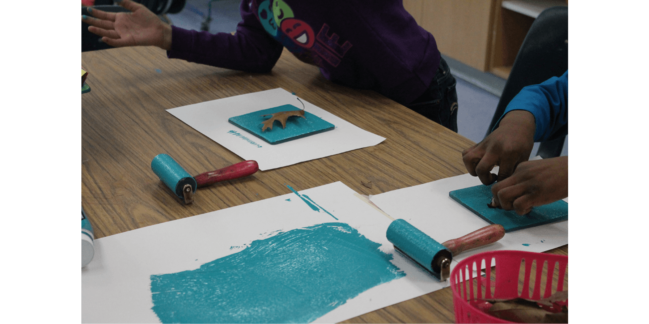 Barbara C. Jordan second graders screen print