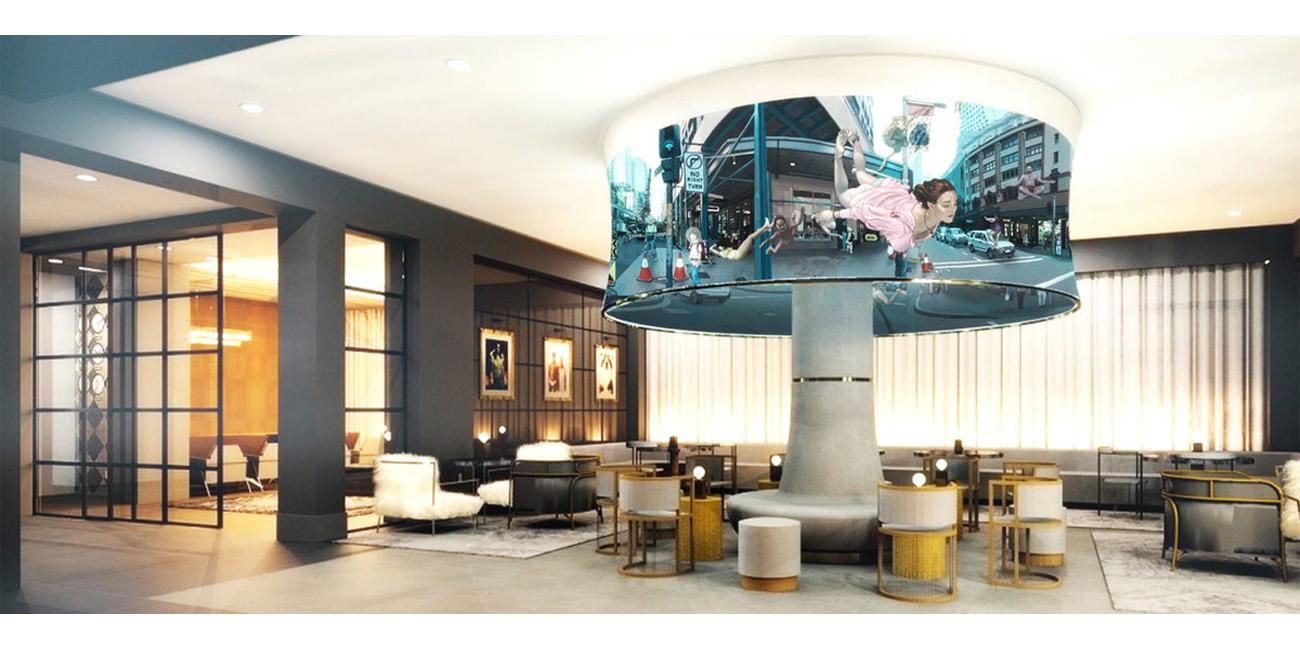 Rendering of the twelfth floor of the Angard Arts Hotel