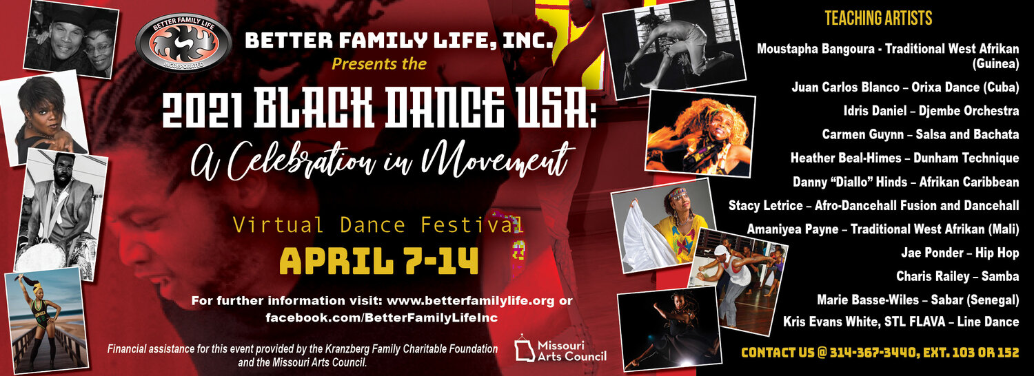 Better Family Life, Inc. celebrates 35 years of Black Dance USA: A Celebration in Movement April 7-14.