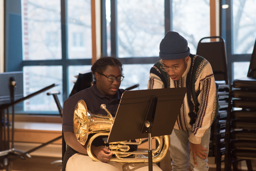 Jazz Academy Instructor working with student