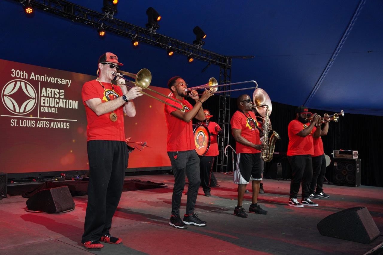 The Red and Black Brass Band kicked off the show.