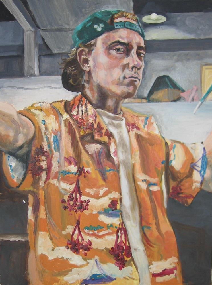 Nate McClain, Self Portrait - Hawaiian