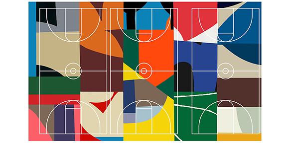 William LaChance design for Kinloch Park basketball court
