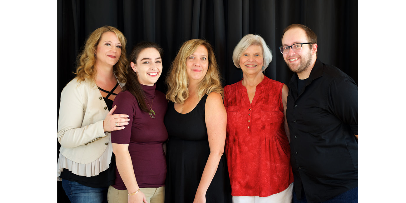 Amanda Wells (left), founder of FLOW, and her team at the literary arts center.