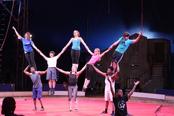 St. Louis Arches rehearse at Circus Flora