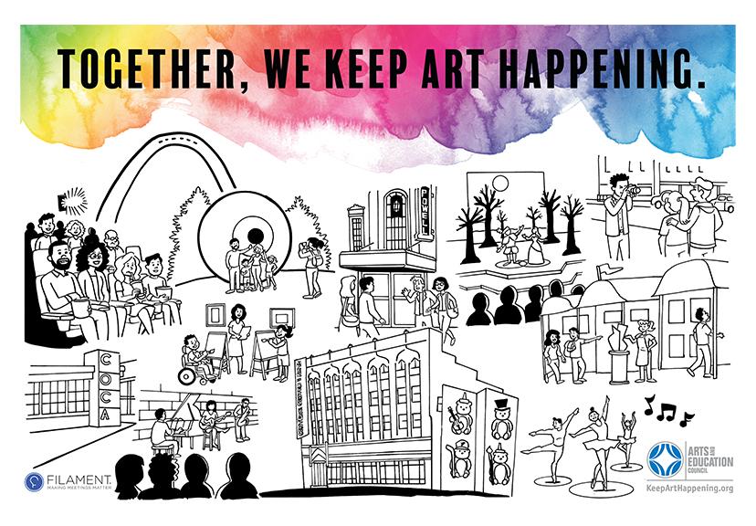 Together, we keep art happening!
