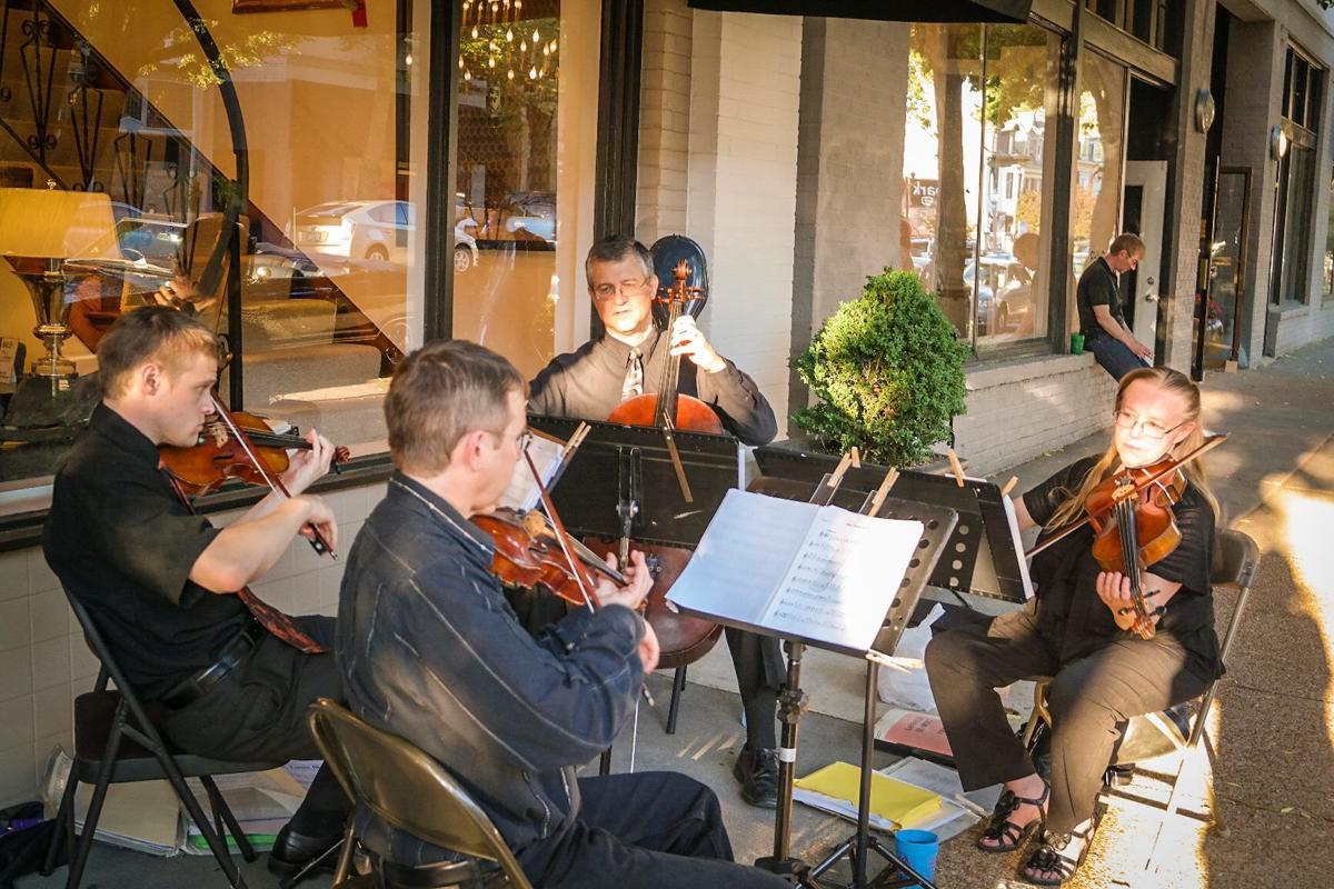 Landolfi Quartet performs during Make Music Day St. Louis. Photo courtesy of Make Music St. Louis.