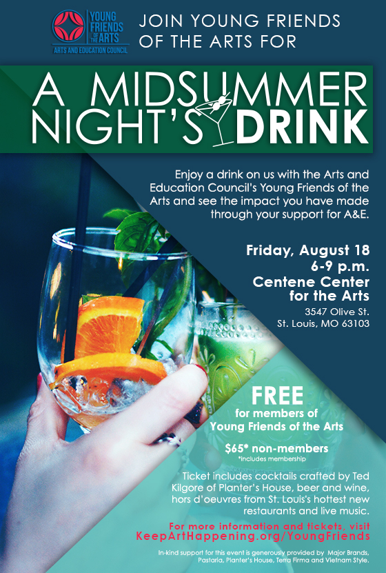 Young Friends of the Arts - A Midsummer Night's Drink