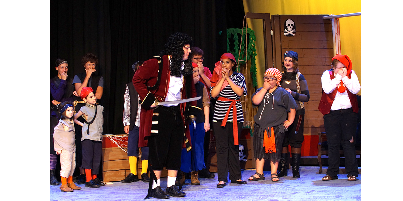 Looking Glass Playhouse, an A&E grantee, presented Peter Pan Jr. in 2017 thanks in part to a grant from A&E's Monsanto Rural Community Arts Fund program.
