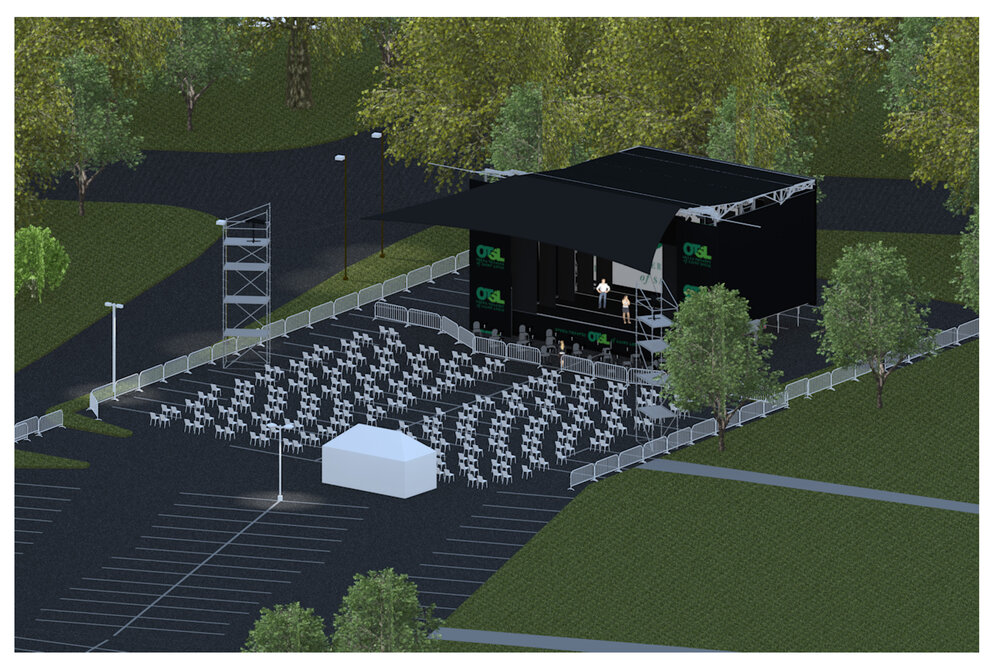 Rendering of the Outdoor Festival Stage