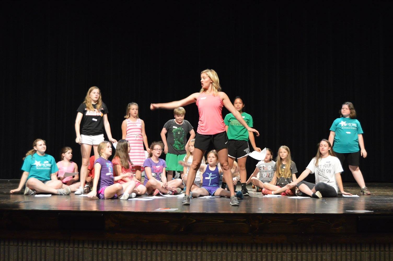 Sullivan Area Arts Broadway Beginnings - Group Working