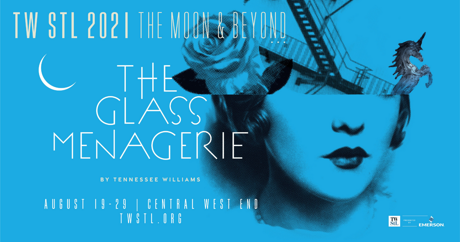 TW STL 2021 The Moon and Beyond featuring The Glass Menagerie by Tennessee Williams from August 19-29 in the Central West End.