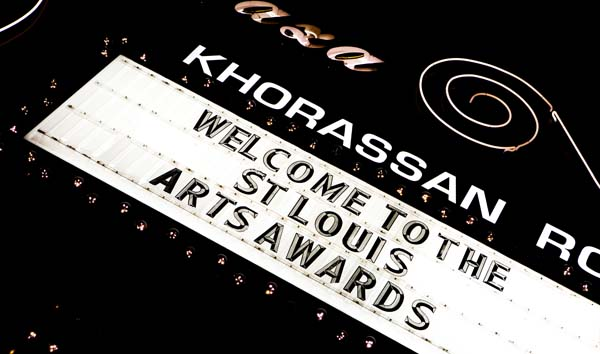 Photo of arts awards marquee