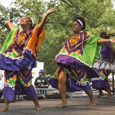 photo of dancers at african heritage festival