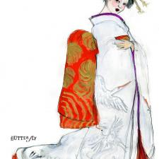 Image of Madam Butterfly sketch